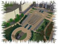 Vedere aeriana a noului centru al Craiovei